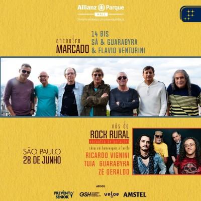 'Encontro Marcado' e 'Nós do Rock Rural': dois projetos especiais da música brasileira reunidos em única data no Allianz Parque Hall