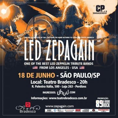 Tributo norte-americano ao Led Zeppelin confirma apresentação no Teatro Bradesco em São Paulo