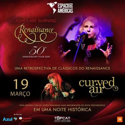 Renaissance e Curved Air, duas das mais importantes bandas do rock progressivo se apresentam no Espaço das Américas