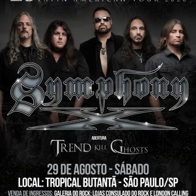 Symphony X: Trend Kill Ghosts fará abertura do show em São Paulo