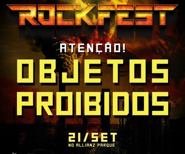 Rockfest divulga lista de objetos proibidos e horários dos shows