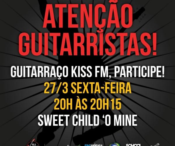 Rádio KISS FM vai promover o maior guitarraço da história do rock