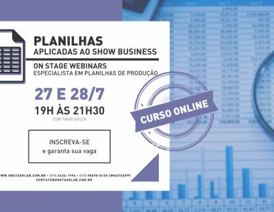 Planilhas Aplicadas ao Showbusiness (online)