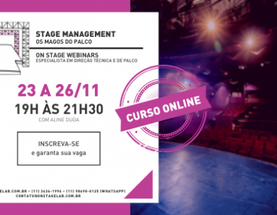 Stage Management - Novembro 2020 (ON LINE)